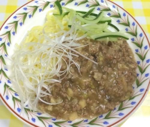 特定原材料26品目不使用 ジャージャー麺(豚肉使用)中華風に仕上げました
