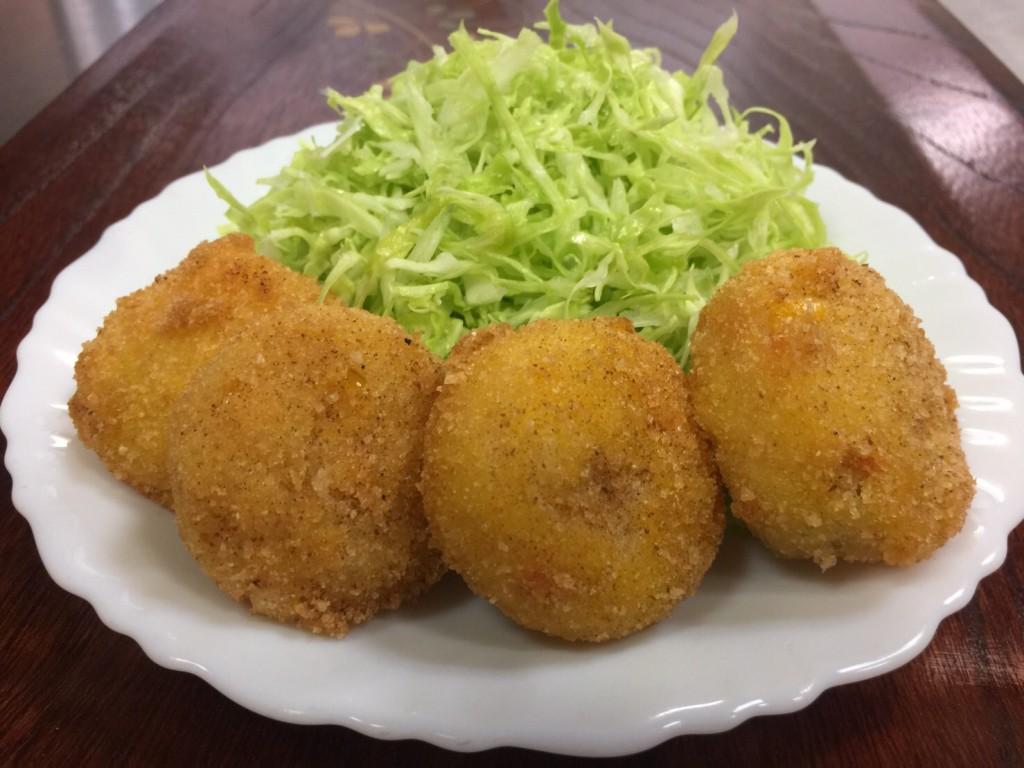 野菜の甘さと旨さがたっぷり 米粉で作る野菜コロッケ 卵・小麦粉不使用です